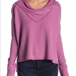 NEW free people Rose Wildcat Thermal Top